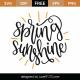 Spring Sunshine SVG Cut File 8665