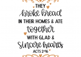 Acts 2:46 SVG Cut File