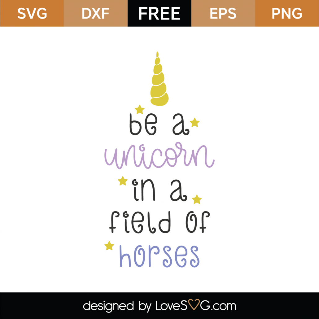 Be A Unicorn SVG Cut File 8802