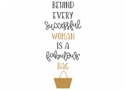 Behind Every Successful Woman SVG Cut File 8814