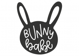 Bunny Babe SVG Cut File