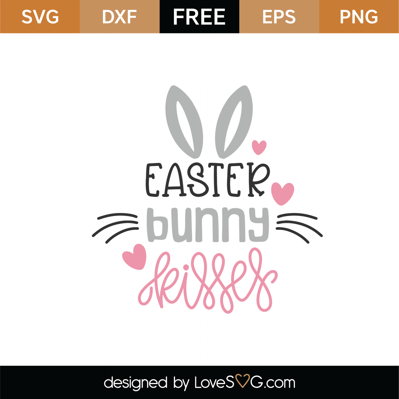 Download Free Easter Bunny Kisses SVG Cut File | Lovesvg.com