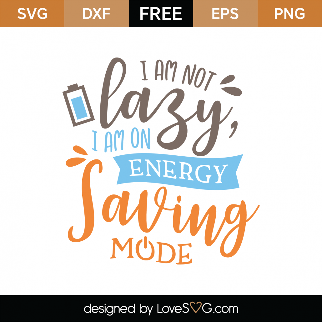 Energy Saving Mode SVG Cut File 8690
