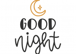 Good Night SVG Cut File 8811