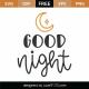 Good Night SVG Cut File 8811