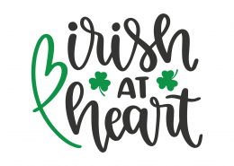Irish At Heart SVG Cut File