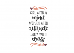 Lady With Class SVG Cut File 8836