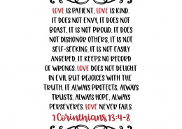 Love Is Patient Love Is Kind SVG Cut File 8729