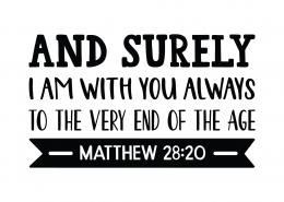 Mathew 28:20 SVG Cut File