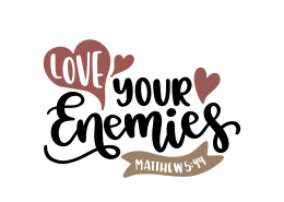 Matthew 5-44 SVG Cut File 8878