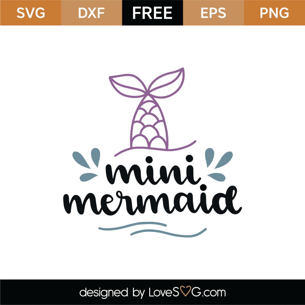Mini Mermaid Tail SVG Cut File 8886
