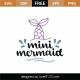 Mini Mermaid Tail SVG Cut File 8886