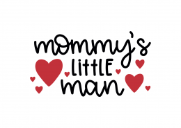 Mommy's Little Man SVG Cut File 8890