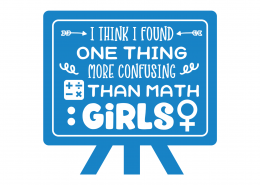 More Confusing Than Maths Girls SVG Cut File 8709