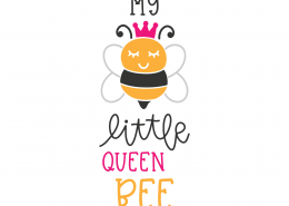 My Little Queen Bee SVG Cut File 8730