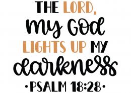 Psalm 18-28 SVG Cut File 8727