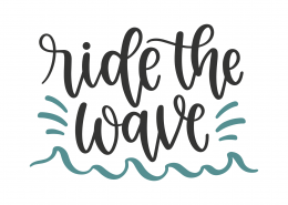 Ride The Waves SVG Cut File 8815
