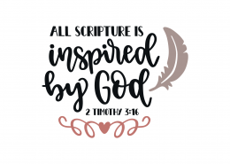 2 Timothy 3-16 SVG Cut File 8950