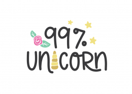 99% Unicorn SVG Cut File 9056