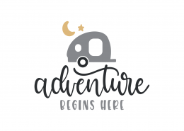 Adventure Begins Here SVG Cut File 8975