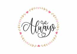 Always SVG Cut File 9079