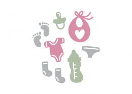 Baby Onesie And Elements SVG Cut File 8931