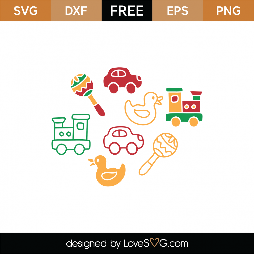 Baby Toys SVG Cut File 8932