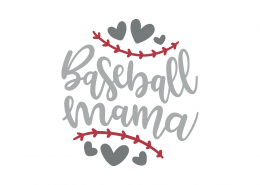 Baseball Mama SVG Cut File 8964