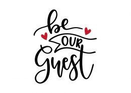 Be Our Guest SVG Cut File 9059