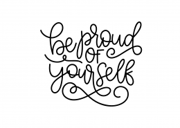 Be Proud Of Yourself SVG Cut File 9071