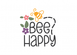 Bee Happy SVG Cut File 9086