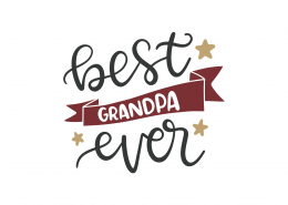 Best Grandpa Ever SVG Cut File 9067