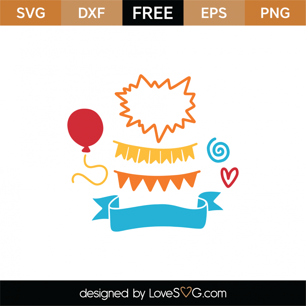 Birthday Banners SVG Cut File 8935