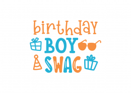Birthday Boy Swag SVG Cut File 8933