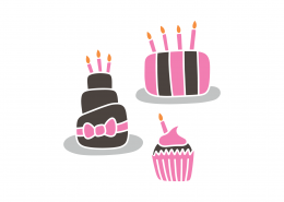 Birthday Cakes SVG Cut File 8934