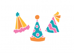 Birthday Hats SVG Cut File 8937