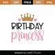 Birthday Princess SVG Cut File 8911