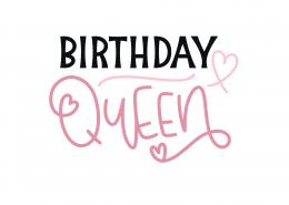 Birthday Queen SVG Cut File 8912