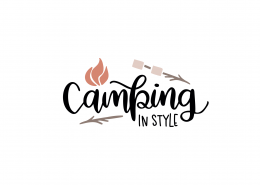 Camping In Style SVG Cut File 9061