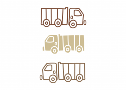 Coloring Trucks SVG Cut File 8982