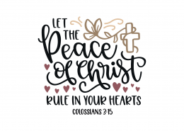 Colossians 3-15 SVG Cut File 8948