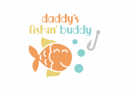 Daddy's Fishing Buddy SVG Cut File 9022