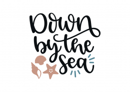 Down By The Sea SVG Cut File 8942