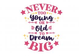 Dream Big SVG Cut File 9098