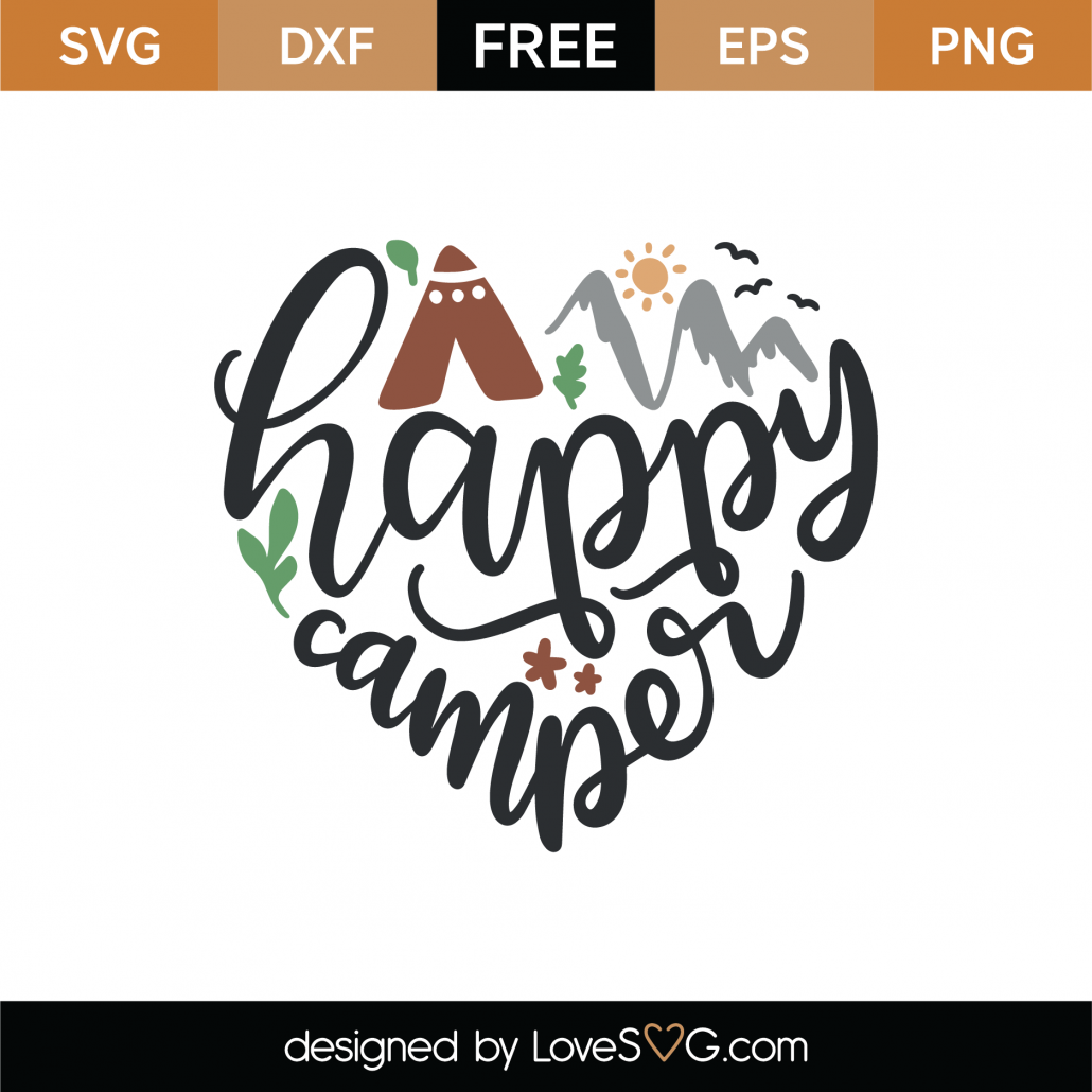 Happy Camper SVG Cut File 8992
