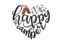Happy Camper SVG Cut File 8992