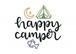 Happy Camper SVG Cut File 8993