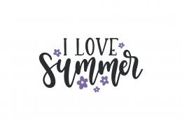 I Love Summer SVG Cut File 9003