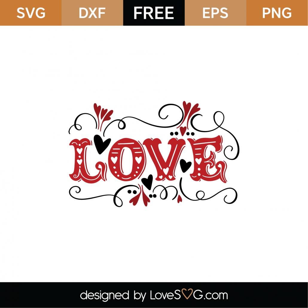 Love SVG Cut File 9016