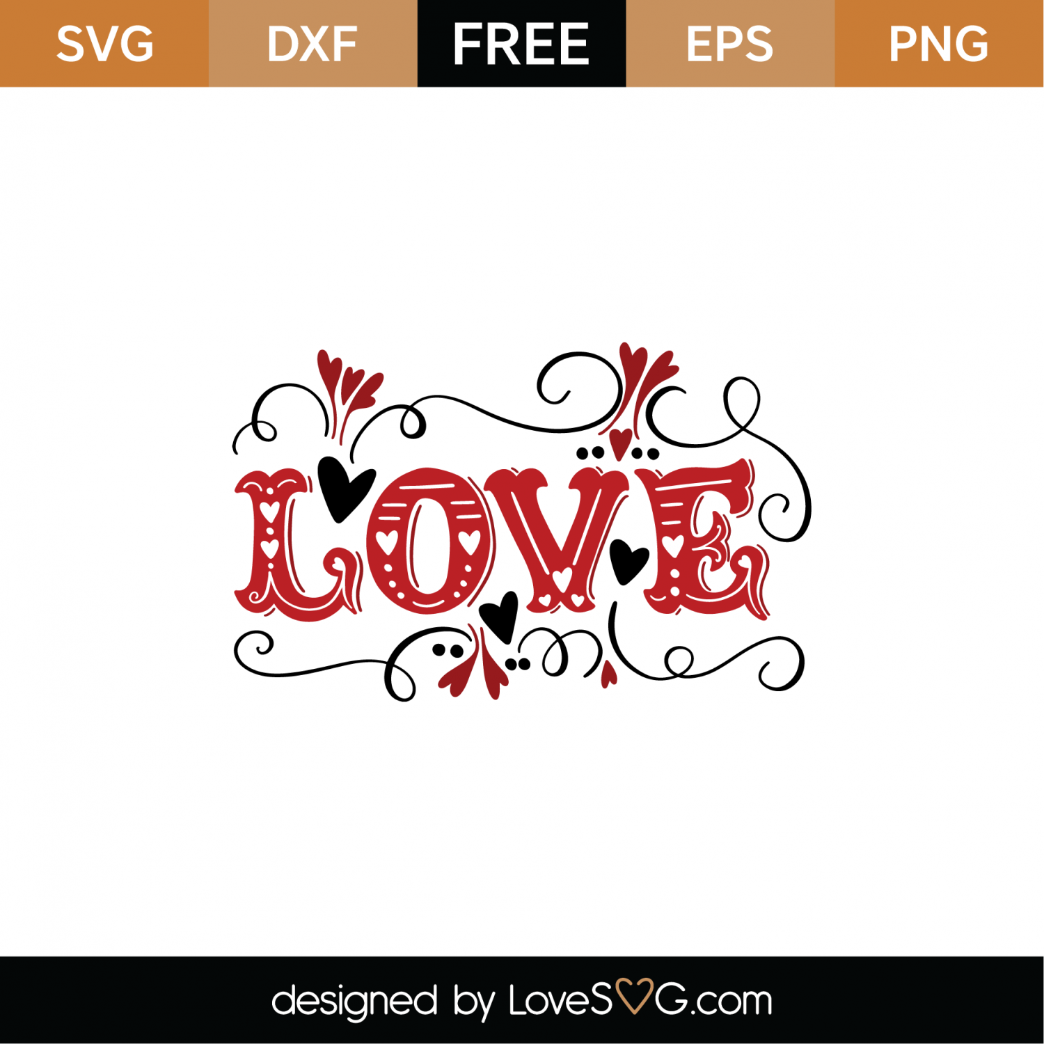 Download Free Love SVG Cut File | Lovesvg.com